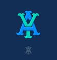 a y monogram vector image vector image