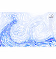 abstract mixed white and blue paints surface vector image vector image