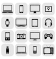 abstract set of digital devices and vector image vector image