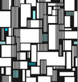 abstract texture from squares and line vector image vector image