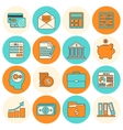 Accounting icons set flat line vector image vector image
