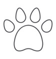 animal footprint thin line icon pet and trace vector image