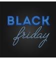Black Friday Sale retro light frame Neon design vector image vector image