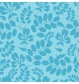 Blue leaves seamless pattern background vector image