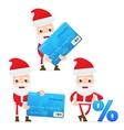 cartoon santa claus with credit card vector image