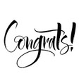 congrats lettering vector image vector image
