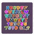 cute colorful paper alphabet lettersnumbers vector image