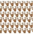 cute reindeer heads pattern background vector image