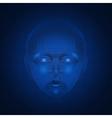 cyber mind brain vector image vector image