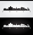 dover usa skyline and landmarks silhouette vector image vector image
