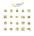 easy icons 51d intetnet fraud vector image vector image