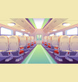 empty bus train or airplane interior with chairs vector image