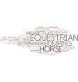 equestrian word cloud concept vector image