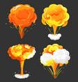 explosion set eruption or burst boom collection vector image vector image