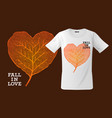 fall in love print on t-shirt sweatshirts and vector image vector image