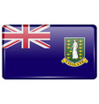 Flags VirginIslandsUK in the form of a magnet on vector image