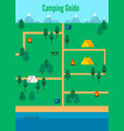 flat camping map template vector image