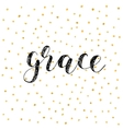 Grace Brush lettering vector image vector image