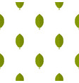 green plum leaf pattern seamless vector image vector image