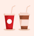 group of beverages icons vector image vector image