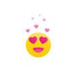 happy emoji with hearts eyes vector image