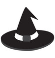 hat icon in black style vector image