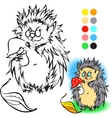 Hedgehog Coloring book vector image vector image