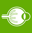 human eyeball icon green vector image vector image