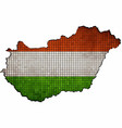hungary map with flag inside vector image vector image