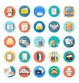 Icons Set of Office Tools vector image