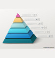infographic pyramid with numbers and business vector image vector image