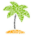 island tropic palm collage of triangles vector image