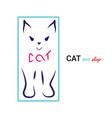 kitten logo design stylized silhouette vector image