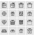 line gift icon set vector image vector image