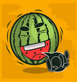 lol lots of laughs with laughing watermelon funny vector image