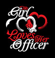 love officer vector image vector image