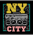 ny city par cover print vector image vector image