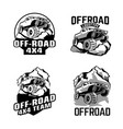 off-road club logos set vector image