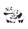 panda family vector image vector image