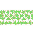 pattern with green cactus vector image vector image