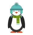 penguins christmas character isolated icon vector image vector image