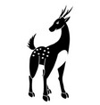 picture a black and white deer is used to m vector image vector image