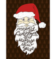Portrait Of Santa Claus With Greeting Text vector image vector image