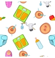 Pregnancy pattern cartoon style vector image vector image