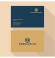 qualitative elegant business card logo vector image vector image