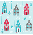Seamless Christmas House Background vector image vector image