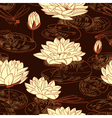 Seamless pattern with a water lily vector image