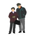 seniors couple grandmother and grandfather vector image