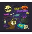 set cartoon halloween elements vector image