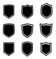 shield icon set on white background flat style vector image vector image